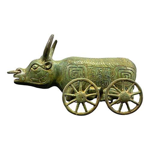 LAOJUNLU Carro De Bueyes De Bronce Estilo 2 Colección de Ob