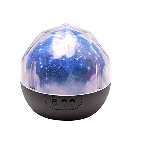BTTNW Lámpara De Proyección Estrella Noche luz Cielo Magia Estrella Planeta proyector lámpara Cosmos Universo luminaria bebé vivero luz para Regalo de cumpleaños Adecuado para Dormitorio