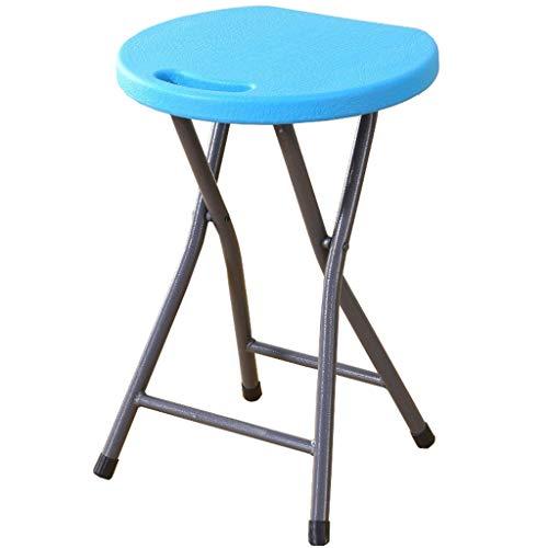 YXJBD Klapphocker, rund, kompakt, Blau, 2 Stück, PVC, blau, 30x27x45cm