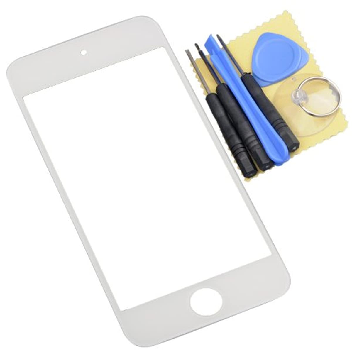 White Front Outer Screen Glass Lens Replacement Part with Tools for iPod Touch 5