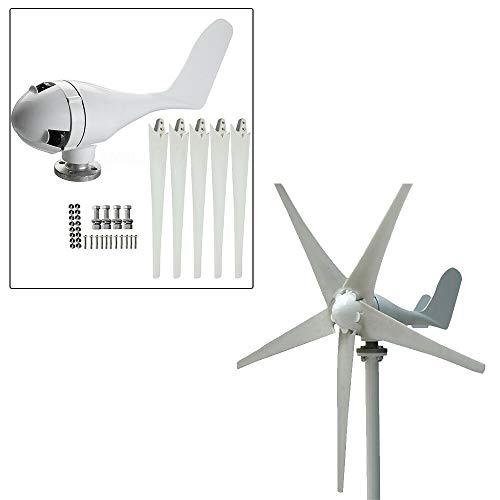AC 24V 5 Blades Wind Turbine Generator Windenergie Windgenerator 400W Laderegler/400W 5-Blade WINDGENERATOR 24V WINDTURBINE +Laderegler Controller Wasserdicht
