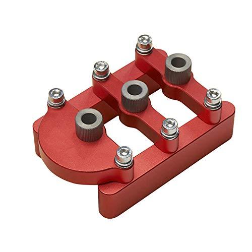 Dowel Drill Guide, Vertical Self Centering Dowel Jig,Aluminum Alloy 3-Hole Drill Bit Guide Jig Positioner Locator,8mm Pin Fixture Wood Hole Drill Bit Set Woodworking Tools