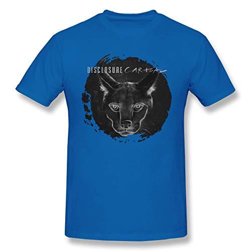 Disclosure Caracal Men T Shirt StyleCotton Short Sleeve Tee Black,Blue,6XL