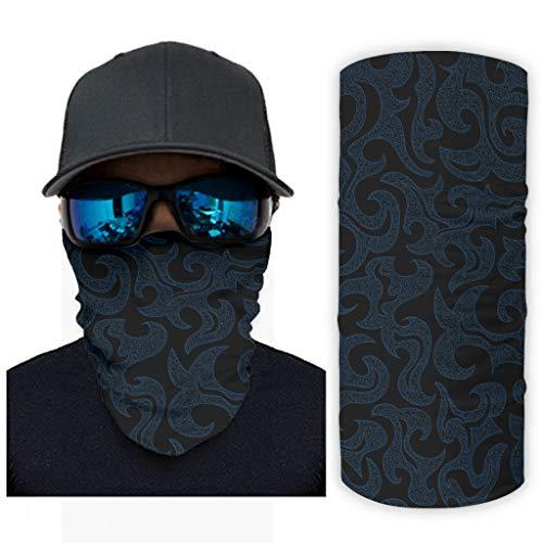 Pañuelo para hombre, diseño de palabras vikingas, multifuncional, para exteriores, se puede utilizar como bufanda UV, sol/viento pasamontañas para motocicleta, color blanco