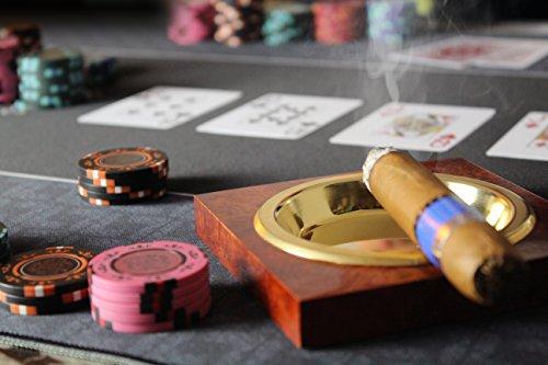Profi Pokermatte grün in 100 x 60cm von Bullets Playing Cards für den eigenen Pokertisch – Deluxe Pokertuch – Pokerteppich – Pokertischauflage – ideal als Geschenk - 6