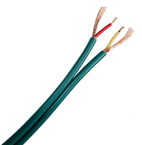 Aerzetix: Grün abgeschirmtes Side-by-Side-Audiokabel 2x0.14mm² 2.9x5.8mm C19724 (10 Meter)