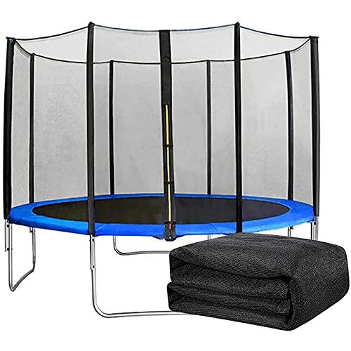 HJCC Red de repuesto para cama elástica para niños para evitar accidentes, recinto de seguridad para evitar lesiones, reemplazo de red de trampolín, para interior/exterior, 6 polos de 244 cm