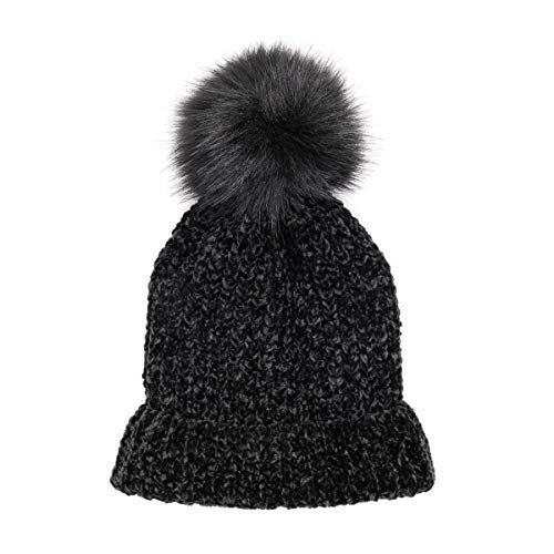 MUK LUKS Women's Chenille Headband, Black, OSFM