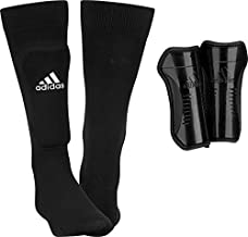 adidas Youth Sock Shin Guards, Black/White, Medium