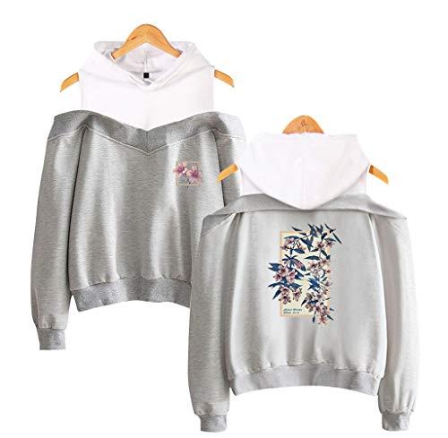 U CAN Shawn Mendes Hoodies Langärmliger Sling Hooded Sweater Schwarz