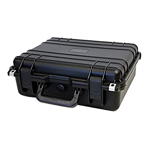 [ダイセイ] ガンケース アタッシュ型ガンケース ハードタイプ 18L 防水[40サイズ ブラック 430×380×154mm] プラスチック 鍵なし ブロッククッション 持ち運び サバゲ― イベント 収納 保管 AG-8460