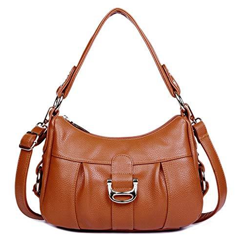 Forhome schoudertas van rundleer voor dames designer-schoudertas van rundleer voor dames Bruin