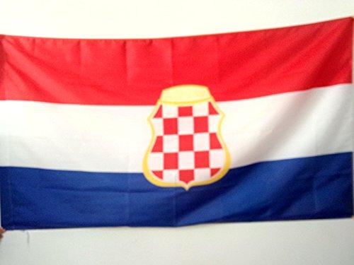 AZ FLAG Flagge KROATISCHE Republik HERCEG-Bosna 1991-1994 150x90cm - HR HB Fahne 90 x 150 cm Scheide für Mast - flaggen Top Qualität