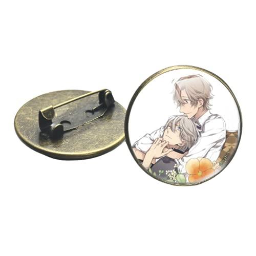 Ten Count Broche Pin BL Anime Collection Figuras de dibujos animados Vidrio Foto Cabujón Metal Pines Insignias Camisa Mochila Accesorios