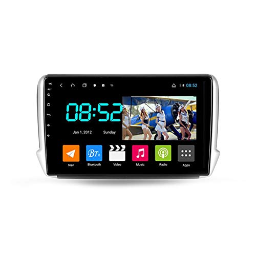 Autoradio Bluetooth, 2 Din Android Radio De Coche 10.1'' Pantalla Táctil Wifi Plug And Play Completo RCA Soporte Carautoplay/GPS/DAB+/OBDII Para Peugeot 2008 1 2013-2020,Octa core,4G Wifi 4G+64G