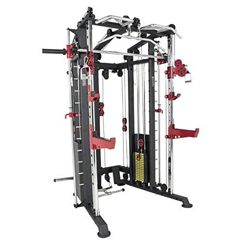 We R Sports Monster Power Cage Multi Power Rack Smith Machine Home Gym Crossfit Combo LAT/Low Row