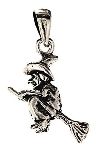 Kiss of Leather Zierlicher Hexen Anhänger aus 925 Sterling Silber Nr. 260