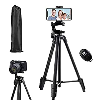 Flexible Tripod,136cm Extendable Camera Tripod Stand with Carrying Bag,Cell Phone Tripod with Wireless Remote,Portable Travel Tripod,Compatible with iPhone & Android (B087WLFPJZ) | Amazon price tracker / tracking, Amazon price history charts, Amazon price watches, Amazon price drop alerts
