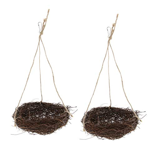 F Fityle 2pcs Bird Parrot Nest Swing Colgante Escalada
