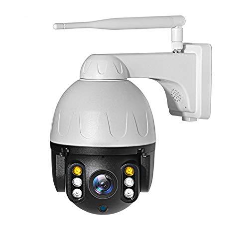 GQQG PTZ Cámara de Vigilancia Exterior, Camara WiFi Inalambrica con Audio de Dos Vías, Visión Nocturna, Detección de Movimiento, Notificación de Alarma, Audio Bidireccional, Impermeable IP66