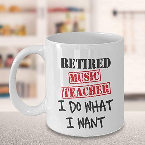 N\A Regalo de jubilación para Profesores de música, Taza de café para Profesores Jubilados, Regalo para Profesores, Regalos para Profesores