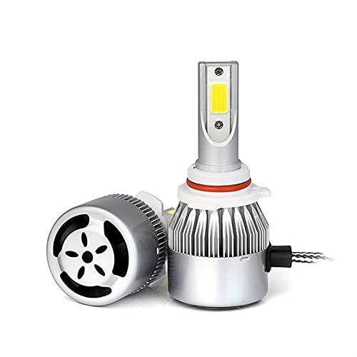 lxxiulirzeu 2 UNIDS COB LED HB4 HB3 9005 9006 Faro de Coche 4000LM H1 H4 H7 H8 / 9/11 Vehículo Fog Lampada Light Bombillas Auto Accesorios (Socket Type : H11)