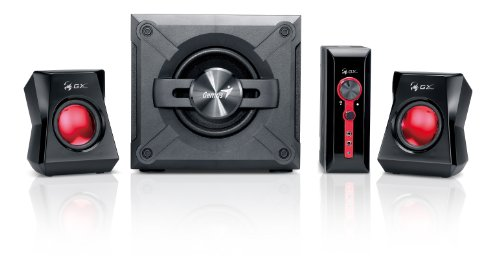 Genius SW-G2.1 1250 2.1 Channel Speaker System With Wooden Cabinet...