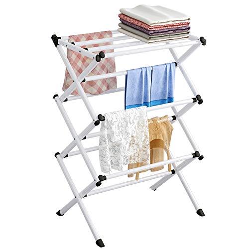 Tendedero plegable para tendedero de ropa Infinity con 4 niveles de almacenamiento, tendedero de ropa extensible ajustable, Tancarville de gran capacidad, 63 x 39 x 98 cm, color blanco