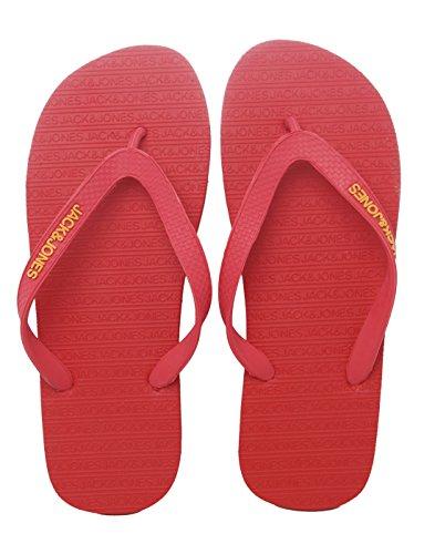 JACK & JONES Sandales pour homme Barbados Cherry Taille 40-47 - Rouge - rouge, 40/41 EU
