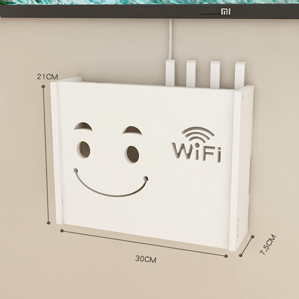 Wireless Router Storage Box Perforation Free Wall Hanging Set-top Box Rack Router Fence WiFi Wall Hanging Multimedia Decorative Box