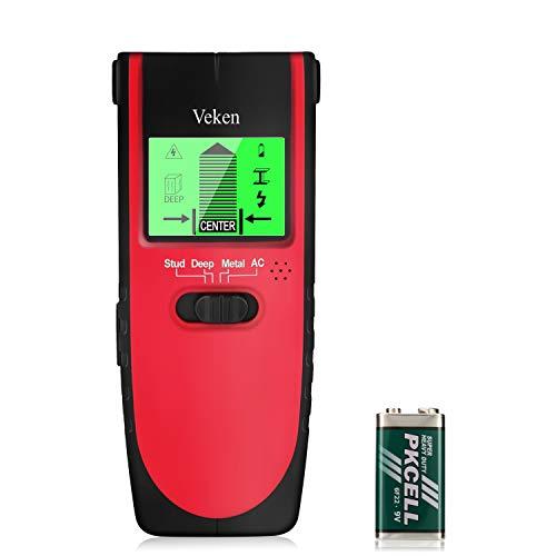 Stud Finder, Veken 4 In 1 Multifunctional Wall Scanner, Professional Wall Center Sensor Detector For Studs, Metal, Wood, Live AC Wire