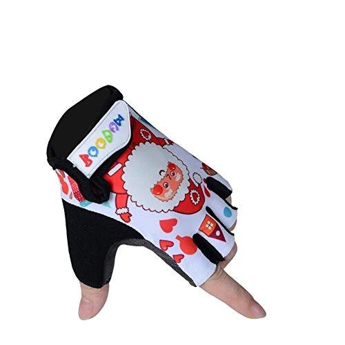 Angebot Kinder Handschuhe rutschfeste atmungsaktiv und komfortabel Reitfahrrad Handschuhe Halb Fäustling (Farbe: Rot, Größe: M) ZHANGKANG