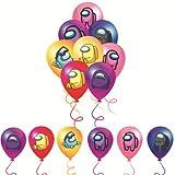 CYSJ 30PCS Game Among Us Globos,A-mong Us Game Party Globos Supplies Set Anime Theme Cumpleaños Regalo Dcoration para Niños Festival Arte Artesanía