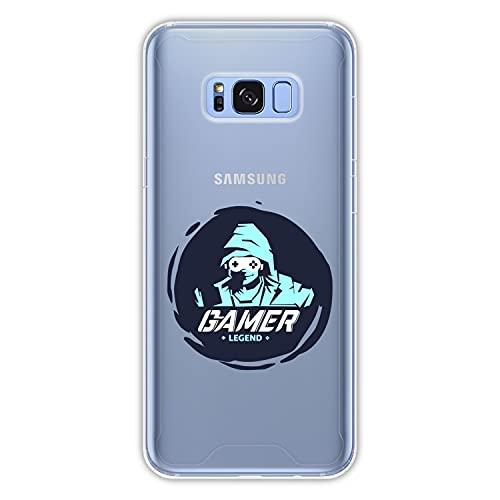 Hapdey Funda rígida para [ Samsung Galaxy S8 Plus - S8 Edge ] diseño [ Jugador, Leyenda ] Carcasa TPU, Transparente