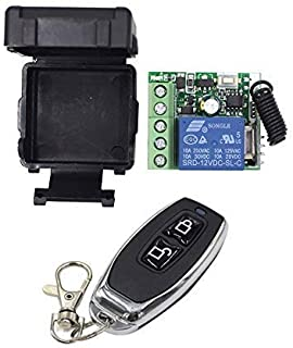 Unique India Sales RF Transmitter and Receiver 315 Mhz Remote Controls with Wireless Remote Control Switch DC 12V 1CH Rela...