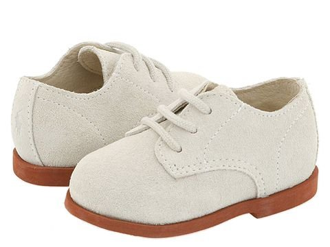 Kids 1950s Clothing & Costumes: Girls, Boys, Toddlers Polo Ralph Lauren Kids Morgan Hard Sole InfantToddler White Suede Boys Shoes $50.00 AT vintagedancer.com