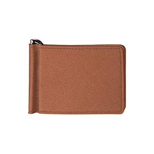 Radorock Men Leather Multi-Card Card Holder Wallet Soft Skin Card Holder Package (Brown)