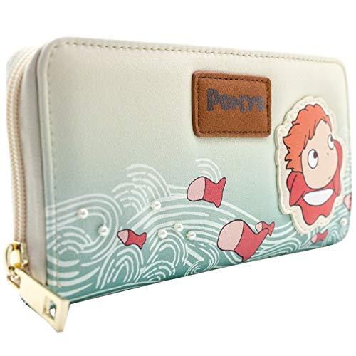 Studio Ghibli Ponyo Goldfisch-Prinzessin Sahne Portemonnaie Geldbörse