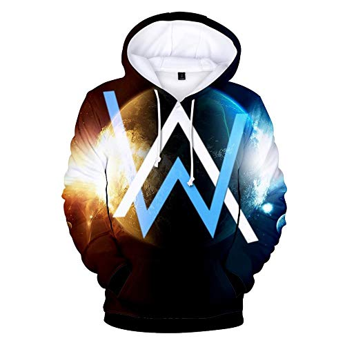 Kapuzenpullover,Unisex Music Singer Alan Theme Sweatshirt Youth Long Sleeve Pullover Set Casual Couple Hoodie Top, Walker, M
