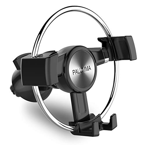 Palumma Car Phone Mount, Air Vent Phone Holder for Car with Steel Slide Rail, Auto-Clamping Gravity Phone Holder Compatible with iPhone Xs Max XR X 8 7 6 Plus, Samsung Galaxy Note 9 S9 Plus S8 S7