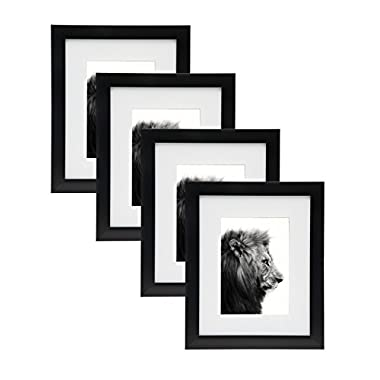 Godinger 8x10 Picture Frame Set - Display Photos 5x7 With Mat Or 8x10 Without Mat - Set Of 4
