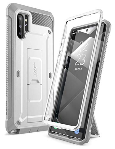 SUPCASE Unicorn Beetle Pro Series Case Designed for Samsung Galaxy Note 10 Plus/Note 10 Plus 5G, Full-Body Rugged Holster & Kickstand Without Built-in Screen Protector (White)