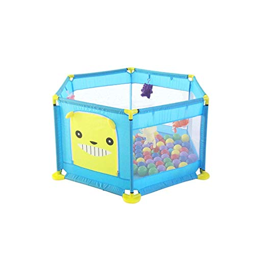 kaige Kinderspiel Zaun ▏ Baby-Anti-Sturz Zaun Schutzzaun ▏ Infant Innenkleinkind-Sicherheitsgurt Krabbeln Mat Baby-Zaun (Farbe: blau) WKY (Color : Blue)