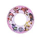 BABIOMS Paw Patrol Dog Cerchio Portatile di Nuoto e Salvegente, Giocattolo da Spiaggia per Piscina - Estiva Giochi Piscina Bambino Cartoon Swim Ring - Inflatable Durable Round Party Swimming Toys