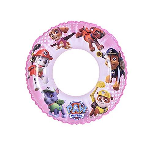 Babioms Cartoon Swimming Ring, Swim Armbands & Swim Ring Swim Ring Paw Patrol Children's Inflatable Swimming Ring, Suitable for 3 to 5 Years Swimming Hoop for Girls & Boys outer diameter of 45cm