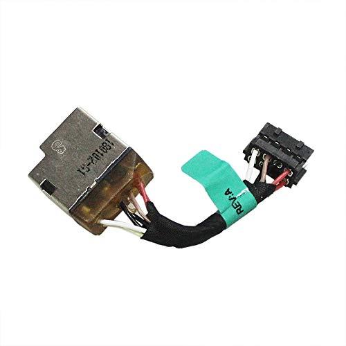 Gintai DC Power Jack Conector de cable de repuesto para HP Pavilion 14-U 14-V 14-W 15-K 15-P 15-F Seires 730932-SD1 730932-FD1 730932-YD1 732067-001 5 cm