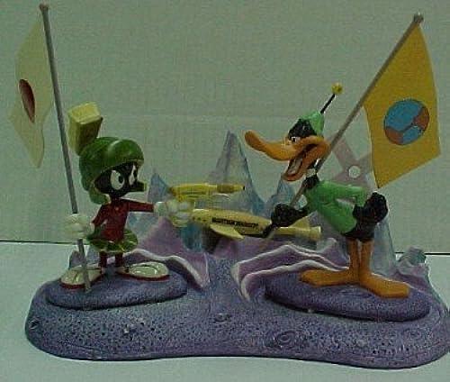 Marvin Martian and Duck Dodgers Goebel Porcelain Statue Set with Martian Base by Goebel Hummel