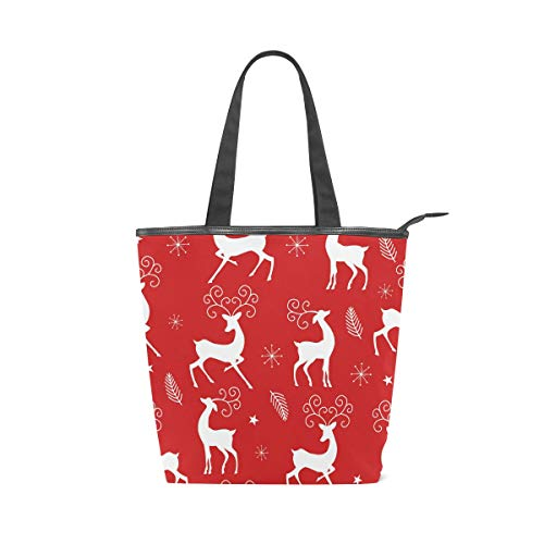 ISAOA - Bolsa grande de lona para la compra, diseño de reno...