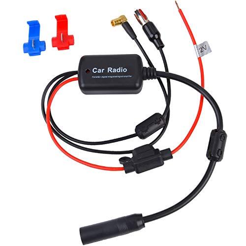 Fansport Auto Antennenverstärker DAB + FM Signal Booster Antenne Verstärker für LKW Auto (1)