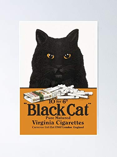 AZSTEEL Black Cat Virginia Cigarettes Poster